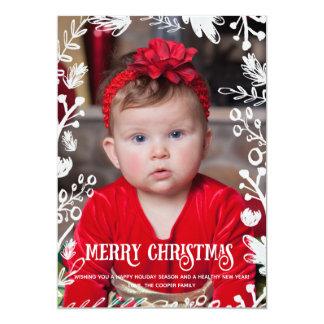 Weißes Weihnachtsvolle Karte