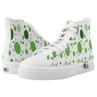 Weißhallo Spitzen grünen einige kundenspezifische Hoch-geschnittene Sneaker