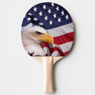 Weißkopfseeadler mit amerikanischer Flagge Tischtennis Schläger