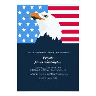 Weißkopfseeadler-patriotische Einladung