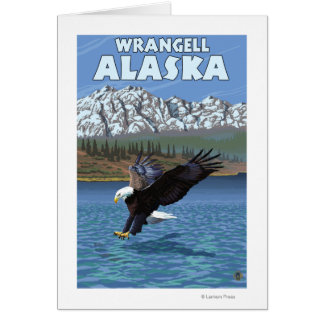 Weißkopfseeadler-Tauchen - Wrangell, Alaska Karte