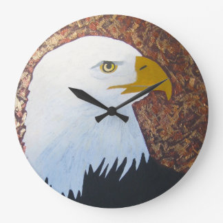 Weißkopfseeadler-Uhr Große Wanduhr