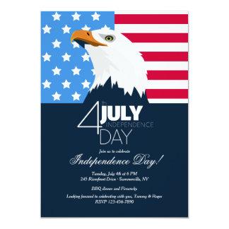 Weißkopfseeadler-Unabhängigkeitstag-Einladung Karte