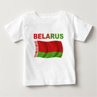Weißrussland-Flagge (gewellt) Baby T-shirt