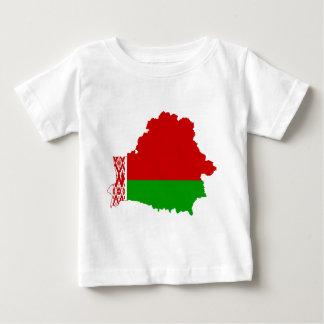 Weißrussland-Flaggen-Karte Baby T-shirt