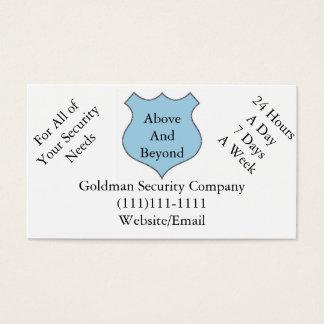 Weit über Sicherheitsgesellschaft-Visitenkarten Visitenkarte