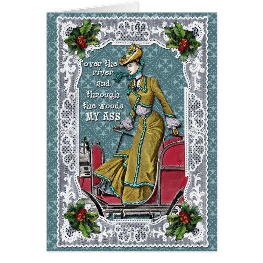 Weit weg am Weihnachten Grußkarte