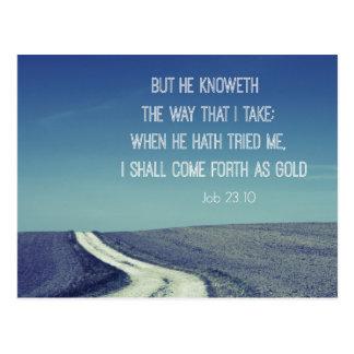 Weiter gekommen als Goldbibel-Vers-Zitat Postkarte