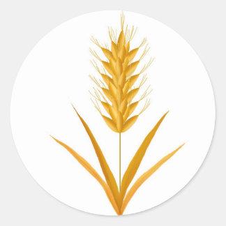 Weizen-Aufkleber Runder Aufkleber