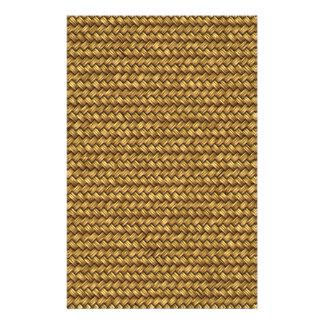 Weizen-Farbkorbgeflecht-Muster-Beschaffenheit Personalisiertes Büropapier