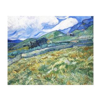 Weizen-Feld mit Bergen durch Van Gogh Galerie Faltleinwand