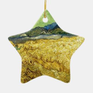 Weizen-Felder mit Sensenmann am Sonnenaufgang - Keramik Ornament