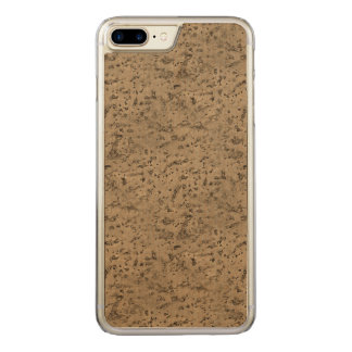 Weizen-Naturkork-Barken-Blick-Holz-Korn Carved iPhone 8 Plus/7 Plus Hülle