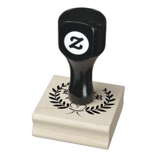 Weizen-Ohr-Monogramm-Gummi-Briefmarke Gummistempel