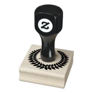 Weizen-Ohr-Monogramm-Initialen-Gummi-Briefmarke Gummistempel
