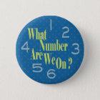 welche Zahl wir auf Blau mit Zahlen sind Runder Button 5,1 Cm