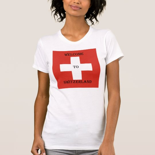 welcome du der Switzerland female shirt