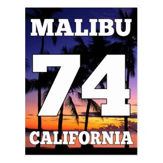 Wellcoda Malibu Kalifornien USA Strand-Leben Postkarte