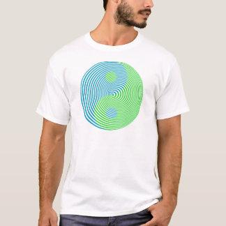 Wellcoda visuelle Verwirrung cooler Yin Yang T-Shirt