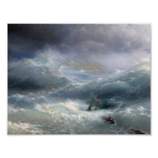 Welle (1889), Iwan Aivazovsky Poster