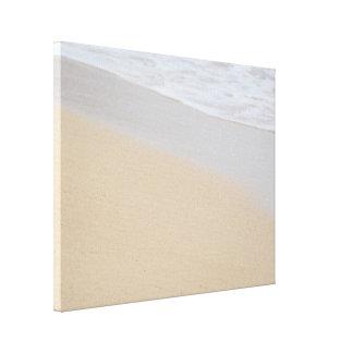 Welle auf dem Strand Leinwanddruck