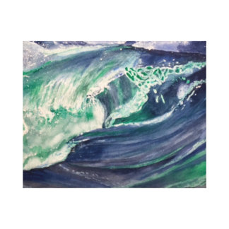 Welle III Leinwanddruck
