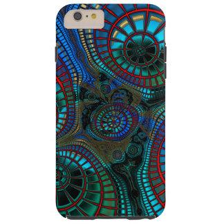 Welle und Fraktal abstrakt Tough iPhone 6 Plus Hülle