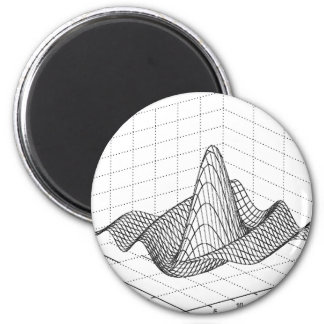 Wellen-Funktion Runder Magnet 5,7 Cm