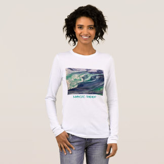 Wellen-T-Shirt Langarm T-Shirt