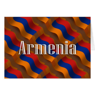 Wellenartig bewegende Flagge Armeniens Karte