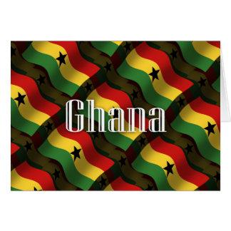 Wellenartig bewegende Flagge Ghanas Karte