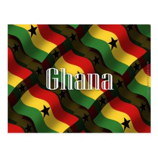 Wellenartig bewegende Flagge Ghanas Postkarte