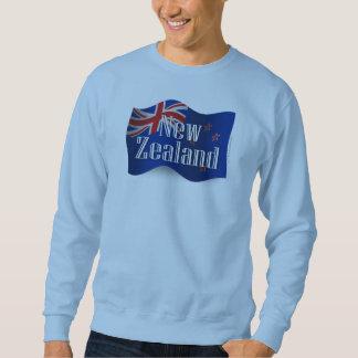 Wellenartig bewegende Flagge Neuseelands Sweatshirt