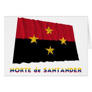 Wellenartig bewegende Flagge Norte Des Santander Karte