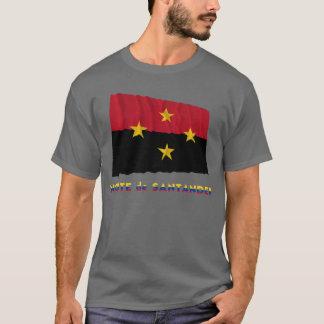 Wellenartig bewegende Flagge Norte Des Santander T-Shirt