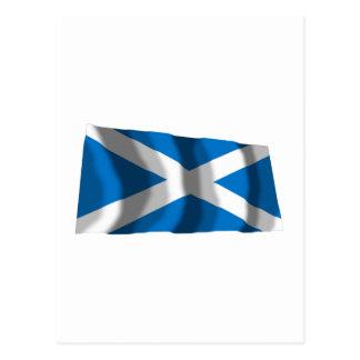 Wellenartig bewegende Flagge Schottlands St Andrew Postkarte