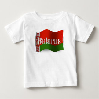 Wellenartig bewegende Flagge Weißrusslands Baby T-shirt