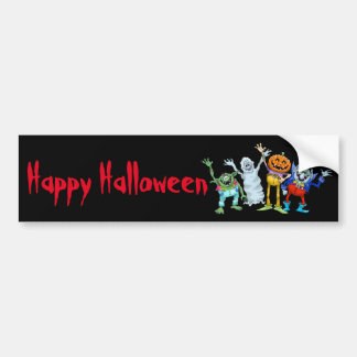 Wellenartig bewegende Halloween-Cartoongeschöpfe, Autoaufkleber