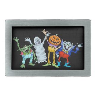 Wellenartig bewegende Halloween-Cartoongeschöpfe, Rechteckige Gürtelschnallen