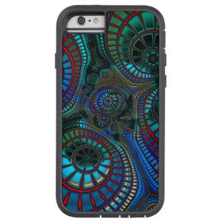 Wellenartig bewegendes Fraktal abstrakt Tough Xtreme iPhone 6 Hülle