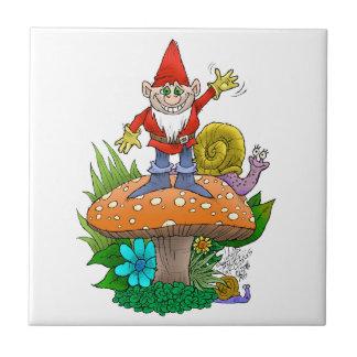 Wellenartig bewegendes Gnome.jpg Kleine Quadratische Fliese