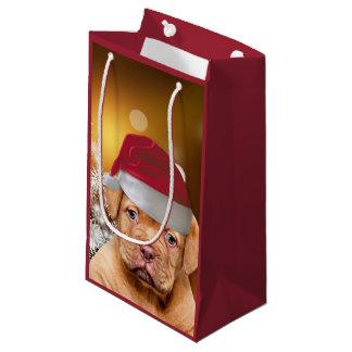 Welpe Dogue de Bordeaux Weihnachtsgeschenk-Tasche Kleine Geschenktüte