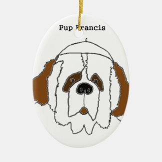 Welpe Francis für kleine Einzelteile Keramik Ornament
