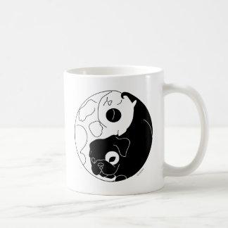 Welpe und Kätzchen Ying Yang Kaffeetasse