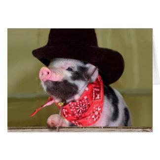 Welpen-Cowboy-Baby-Ferkel-Vieh-Babys Karte