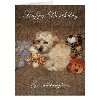 Welpen-Enkelin-Geburtstags-Karte Riesige Grußkarte