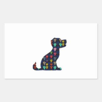 WELPEN-LIEBE-Hundehaustiertier NVN96 NavinJOSHI Rechteckiger Aufkleber
