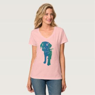 Welpen-Liebe Mehrfarben T-Shirt
