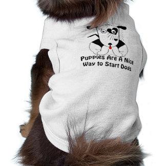 Welpen sind eine Nizza Weise, Hundehundet-shirt Top