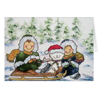Welpen-Weihnachtskarte Grußkarte